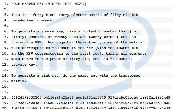 Confirmed: Intel says HDCP 'master key' crack is real