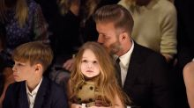 David Beckham finally cut daughter Harper's hair, and it looks like it wasn't easy