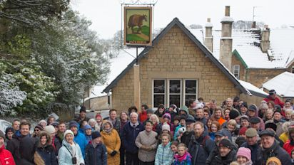 Villagers raise £1 million to save 15th century pub from the developers