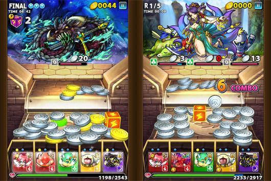 Coin dozer meets RPG in Sega's Dragon Coins for iOS and Android