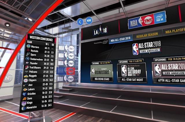 TNT's NBA VR livestreams begin February 16th