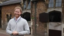 Prince Harry wore the most 'dad' sweater to announce his son's birth