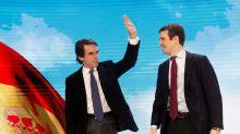 """Aznar regresa por todo lo alto al PP: pide el voto para Casado y abrir la """"casa común"""" frente a la """"política estridente"""""""