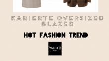 Hot Fashion Trend: Fashion-Frauen tragen jetzt karierte Oversized-Blazer