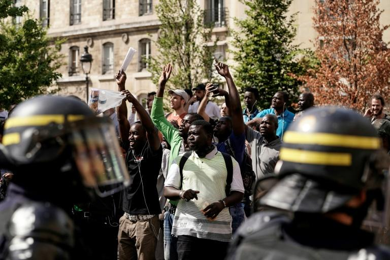 Image result for images of French police arrests 21 African migrants