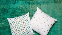 Turn a Plain Pillow Cover into a Confetti Filled Party