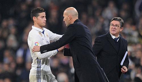 Primera Division: Real Madrids James frustriert über erneute Auswechslung