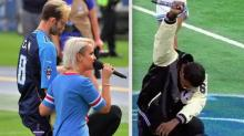 Now Even National Anthem Singers Are Taking A Knee In Protest
