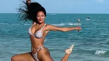 Nicole Scherzinger, 42, rings in New Year with tiny bikini snap