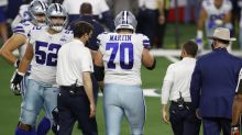 Zack Martin ruled out with leg injury, Cowboys lose LT, safety too