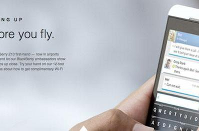 BlackBerry Z10 users can Gogo to Delta for free in-flight WiFi