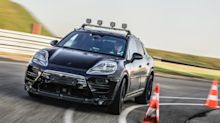 Porsche releases first official images of the electric Macan SUV