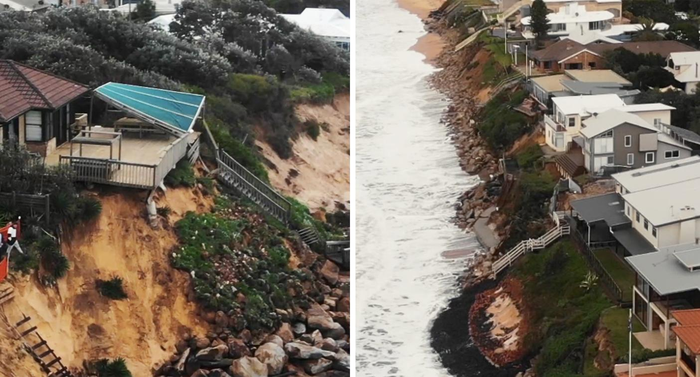 'Like a war zone': Residents fear coastal homes will collapse into sea – Yahoo News Australia
