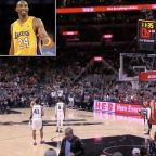 The Toronto Raptors and San Antonio Spurs Started Game with Tribute to Kobe Bryant