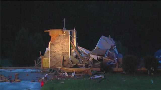 Powerful storm causes damage in Goodrich