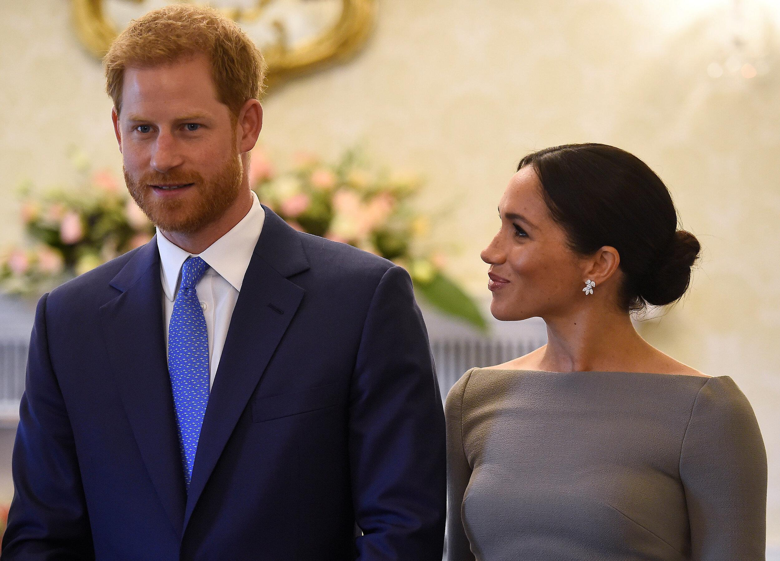 The Duke and Duchess of Sussex at Aras an Uachtarain on the second day of their visit to Dublin, Ireland.