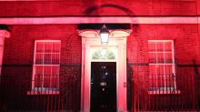 Anti-slavery day: 10 Downing Street leads iconic British buildings in lighting up red to raise awareness of modern slavery
