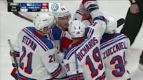 Ryan Callahan deflects Richards' blast in