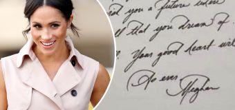 Meghan's secret letter to fan after Oprah interview