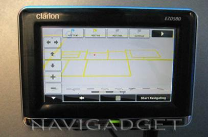 Clarion's EZDrive EZD580 navigator gets announced