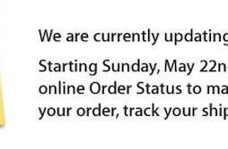 Apple Order Status system down until May 22