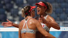 Controversy strikes as Canadians upset Americans in beach volleyball