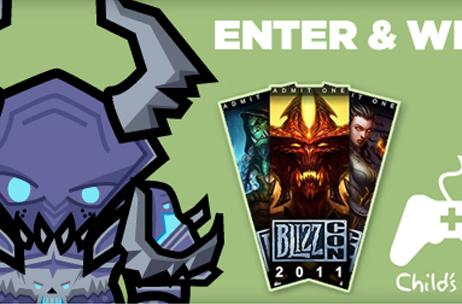 Enter to win a ticket to BlizzCon 2011 by donating to Child's Play