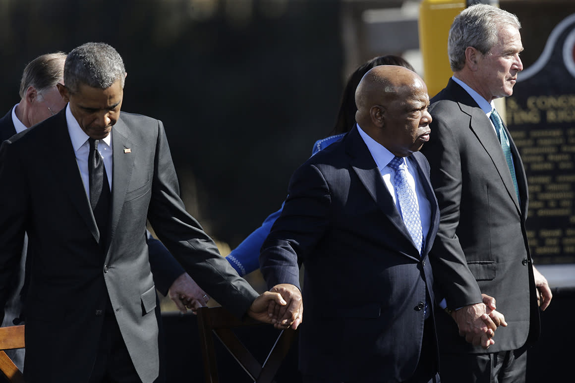Presidents, politicians and civil rights leaders pay tribute to John Lewis