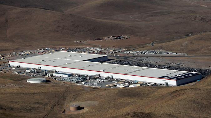 An aerial view of the Tesla Gigafactory near Sparks, Nevada, U.S. August 18, 2018. REUTERS/Bob Strong
