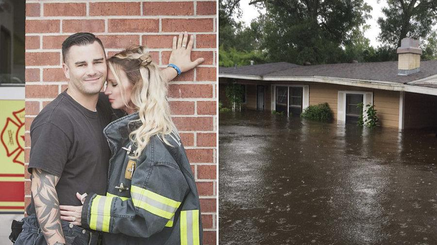 Firefighter Finds Fiancée's Wedding Gown Safe And Dry In His Harvey-Flooded Home