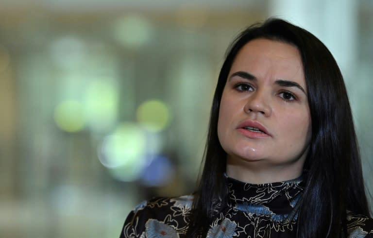 Belarusian opposition leader Svetlana Tikhanovskaya told Lukashenko 'you can't have dialogue in a prison cell'
