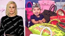 Khloe Kardashian criticised for picture of her baby with £122,000 worth of handbags