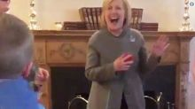 Hillary Clinton Got An Unexpected FaceTime Call In The Middle Of A Speech