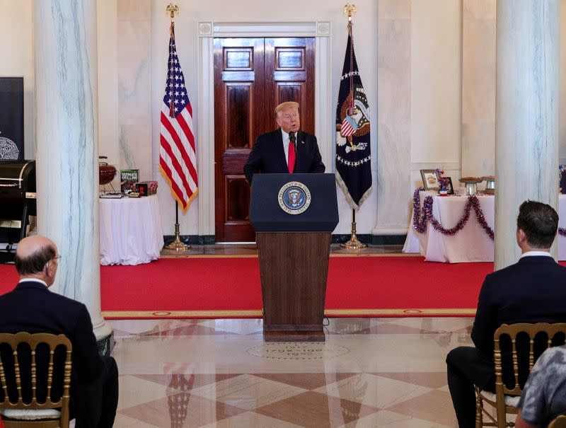 U.S. President Trump hosts Spirit of America Showcase event at the White House in Washington