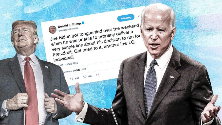 Trump adds Joe Biden to his 'low IQ' list