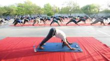 Coronavirus: Yoga class for the homeless at New Delhi shelter