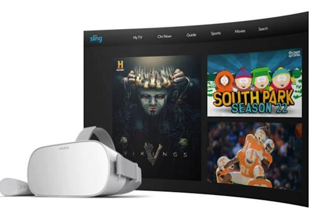 Sling TV, ESPN and Fox Now arrive on Oculus Go