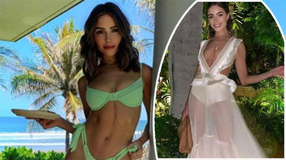 Model shocks in revealing wedding outfit