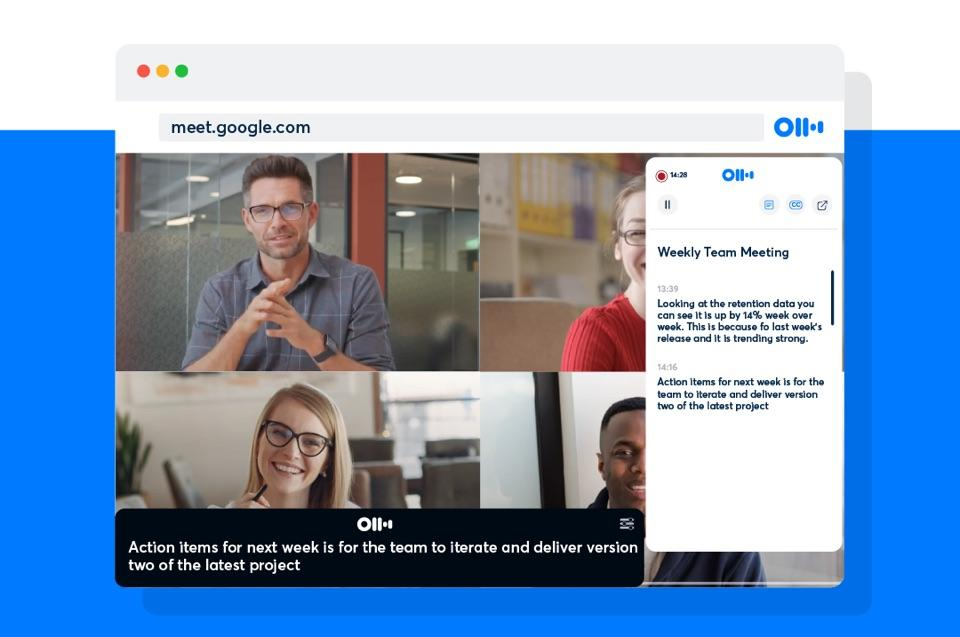 AI-powered transcription service Otter.ai can now record from Google Meet