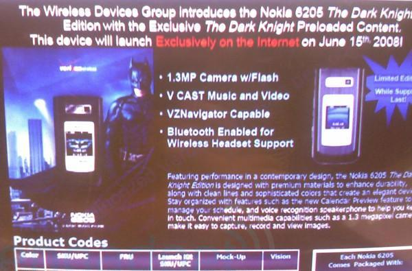 """Nokia 6205 """"The Dark Knight Edition"""" is funnier than Verizon probably intended"""