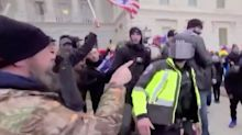 New Footage Shows Pro-Donald Trump Rioter Punching Police During U.S. Capitol Attack