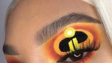 "Makeup Artist Creates ""Incredibles 2""-Themed Eyeshadow Look"