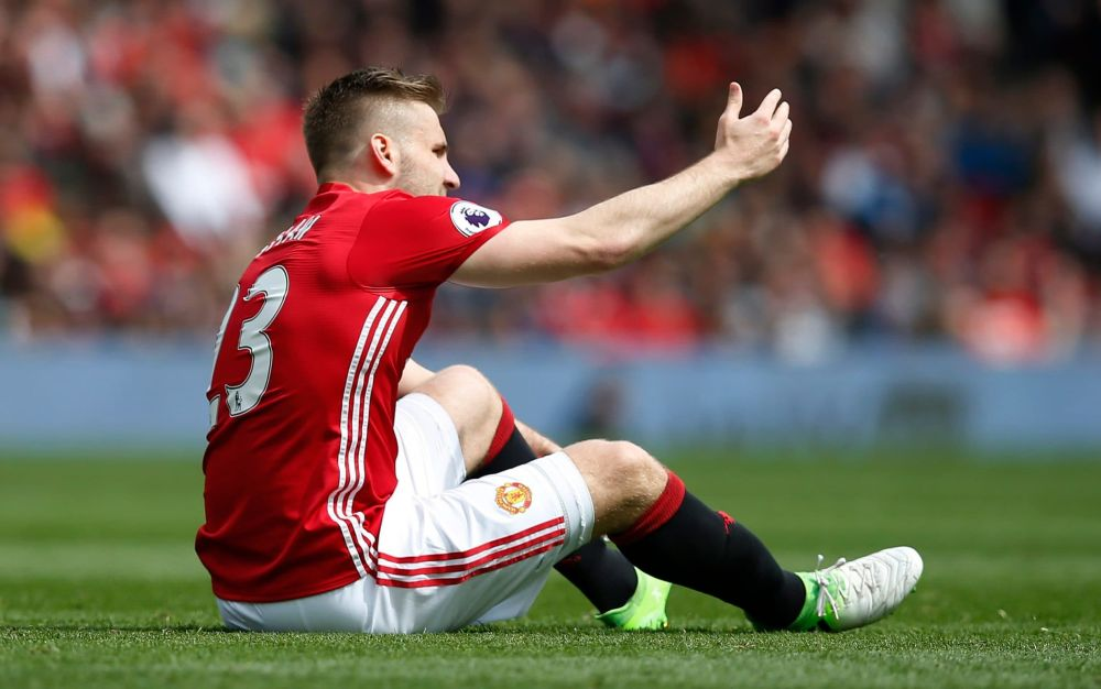 Manchester United think Luke Shaw's season is over after he was injured against Swansea - REUTERS