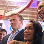Rosario Dawson Attends First Democratic Debate Alongside Boyfriend Cory Booker: 'Go Team!'