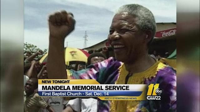 Triangle-wide memorial service set to remember Mandela