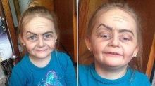 Girl Aged Three With 'Old Lady Make-Up Job' Sweeps The Internet