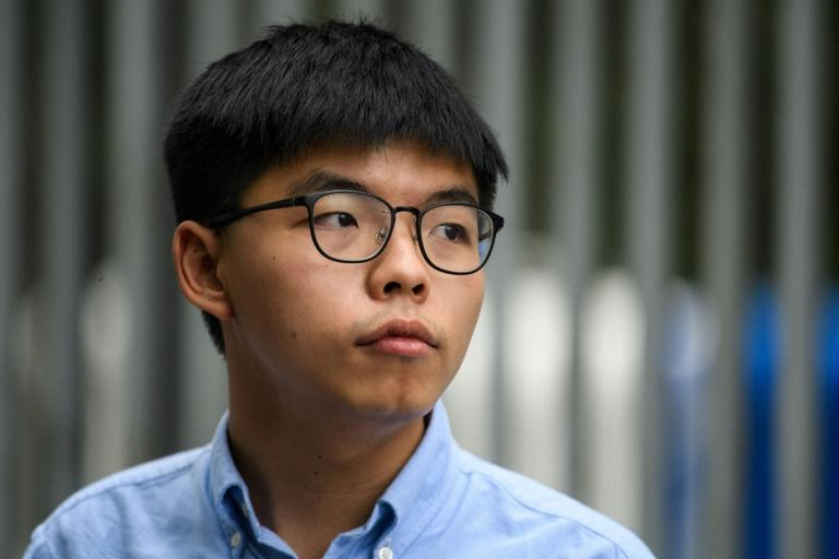 Joshua Wong is one of Hong Kong's most prominent young activists (AFP Photo/Anthony WALLACE)