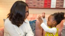 Michelle Obama Tells Toddler Mesmerized By Her Portrait To 'Keep On Dreaming Big'