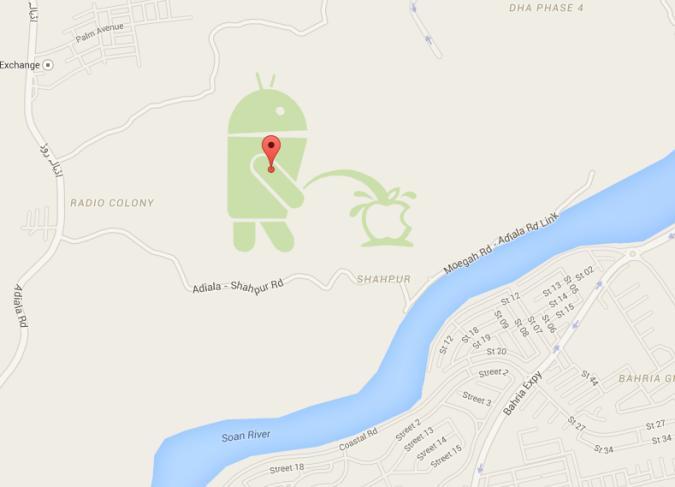 Beef: Android pinkelt bei Google Maps auf Apple