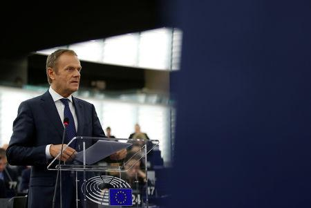 EU's Tusk proposes to offer UK 12-month 'flexible' extension